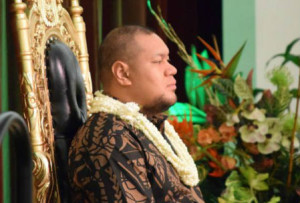 Prince Ata,  the Guest of Honour at the Liahona and Sainehā alumini reunion 2014, in Hawaii. Liahona and Sainehā high schools belong to the  Mormon Church.